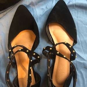 Charlotte Russe Black Pointed Toe Flat